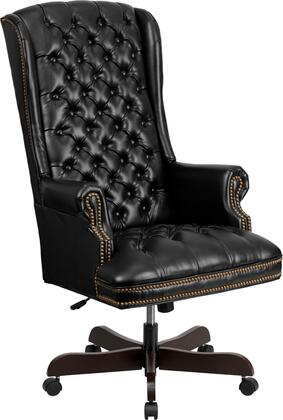 CI-360-BK-GG High Back Traditional Tufted Black Leather Executive Office