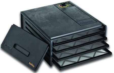 2400 Economy Series Dehydrator in Black with 4 Trays  4 Sq. Ft. of Drying Area  Adjustable Thermostat  and 5 Year Limited