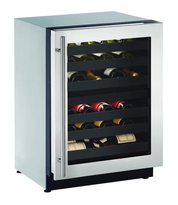 U-Line U2224ZWCS00B 24 Built-in Wine Storage, Stainless Steel