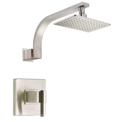D512544BNT Sirius 1-Handle Pressure Balance Shower Faucet Trim Kit in Brushed Nickel