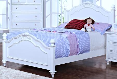 05-242-TB Megan Youth Twin Bed with Tapered Legs  Detailed Molding and Post Top  in