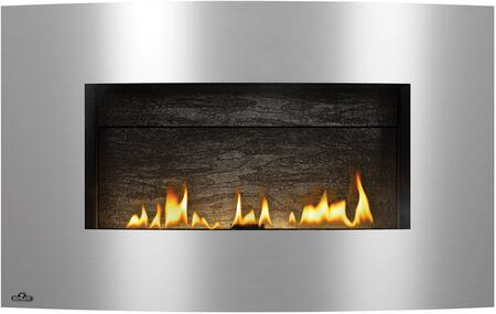 Plazmafire 31 Series WHD31NSB Direct Vent Natural Gas Fireplace with Electronic Ignition  Up to 20 000 BTU's  Ribbon Burner  Back-up Control System  Standard