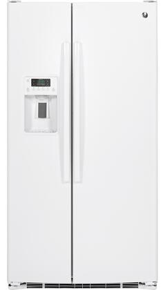 GE 25.4 Cu. Ft. Side-by-Side Refrigerator White GSE25GGHWW
