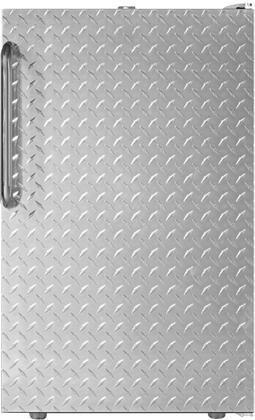 FS407LXDPL 20 inch  Upright Freezer with 2.8 cu. ft. Capacity  4 Pull-Out Storage Drawers  Reversible Door and Manual Defrost  in Diamond Plate