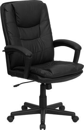 BT-2921-BK-GG High Back Black Leather Executive Swivel Office