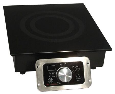 "SR-343R 13"" Smoothtop Built-in Commercial Induction Range With 3 400 Watt Cooking Zone 20 Power Levels SmartScan Technology Touch Pad/Knob Controls LED"