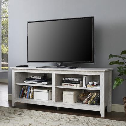 """W58CSPWW 58"""" Wood TV Media Stand Storage Console -"""