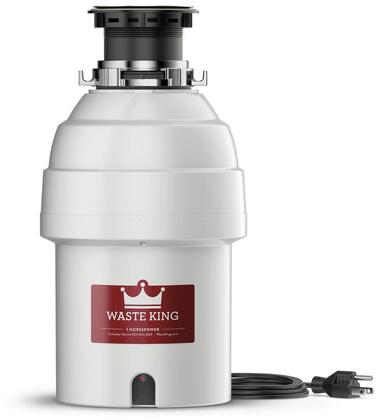 L8000 9 inch  Legend Series Waste Disposer with 1 HP  Lifetime Warranty  Continuous Feed  Stainless Steel Grinding Components  and 2800 RPM High Speed Permanent