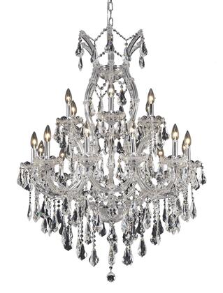 2801D32C/RC 2801 Maria Theresa Collection Hanging Fixture D32in H42in Lt: 18+1 Chrome Finish (Royal Cut