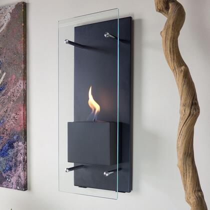 Cannello NF-W3CAO 11.75 inch  Vent Free Wall Mountable Bioethanol Fireplace with Tempered Glass Windscreen  Dampener Tool and Mounting Hardware Included in