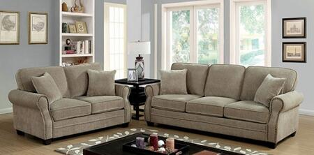 Lynne Collection CM6818-SL 2-Piece Living Room Set with Stationary Sofa and Loveseat in