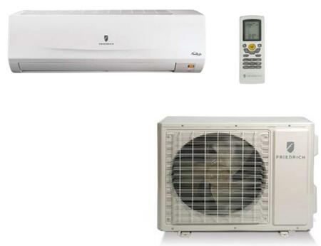 MM18YJ 34 Wall-Mounted Ductless Split System with Heat Pump  18 000 Cooling BTU  23 000 Heating BTU  Optimum Air Flow  Continuous Air Sweep  Auto