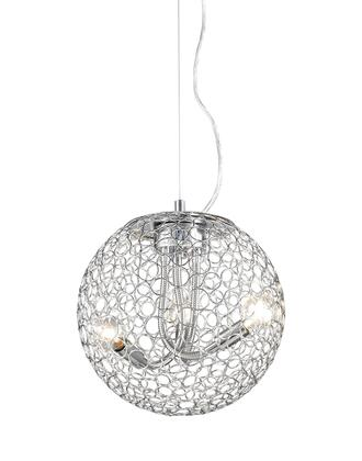 Saatchi 175-12 12 inch  3 Light Pendant Novelty  Whimsicalhave Steel Frame with Chrome finish in