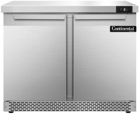 SWF36FB 36 inch  Worktop Freezer with 2 Solid Doors  10.3 Cu. Ft. Capacity  Front Breathing Compressor  Aluminum Interior  Interior Hanging Thermometer  and