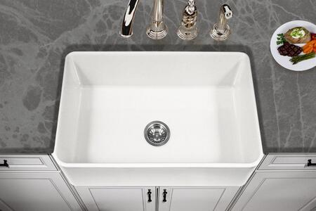 PTS-4100 WH Platus Series 30-Inch Apron-Front Fireclay Single Bowl Kitchen Sink