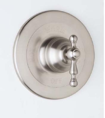 Ac100lm-pn Trim For Pressure Balance Concealed Bath Or Shower Mixer Without Diverter  Classic Metal Lever  Polished