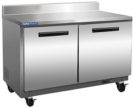 MXCF48WT Undercounter Freezer and Worktop with 12 cu. ft. Capacity  3 Casters  Self Contained  Automatic Defrost  Forced Air Refrigeration and Efficient
