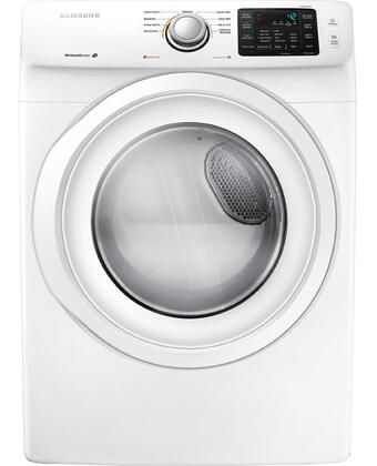 DV42H5000EW 7.5 cu. ft. Front Load Electric Dryer with Sensor Dry  Smart Care  9 Preset Drying Cycles  Dryer Drum Light  4 Temperature Settings  Reversible 350283
