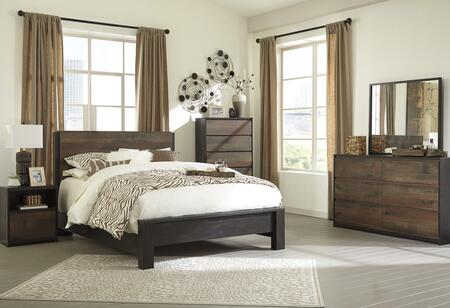 Ladiville Twin Bedroom Set With Panel Bed  Dresser  Mirror And Nightstand In Rustic