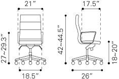 205894 Engineer High Back Office Chair 407500