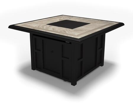 Chestnut Ridge Collection P445-772 45 inch  Square Outdoor Fire Pit Table with Porcelain Top  50 000 BTU Stainless Steel Burner  Battery-Operated Ignition and