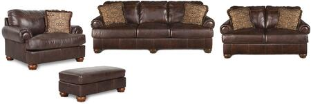Axiom Collection 42000SLCO 4-Piece Living Room Set with Sofa  Loveseat  Ottoman and Chair and a Half in