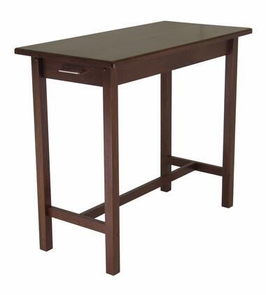 94540 Kitchen Island Table with 2 Drawers in Antique Walnut