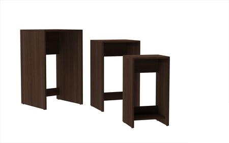 11AMC49 Accentuations by Manhattan Comfort Refined 3 - Saffle Nested Side Table 1.0 with 1 Shelf in