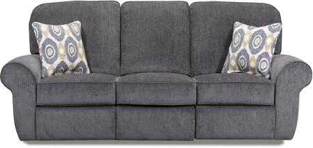 """57005P-53_Shambala_Smoke_90""""_Powered_Double_Motion_Sofa_with_Rolled_Arms_and_USB_Charging_Port_in"""