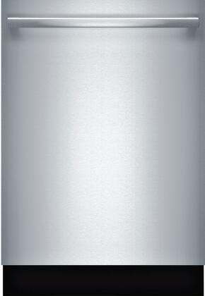 """Bosch 300 Series 24"""" Bar Handle Dishwasher with Stainless Steel Tub Stainless Steel SHXM63WS5N"""