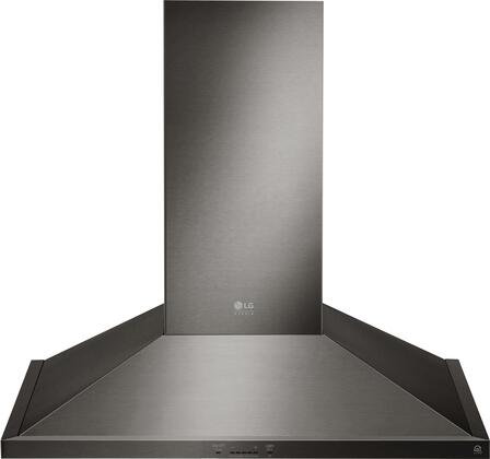 LSHD3089BD 30 inch  Wall Mount Chimney Hood with 600 CFM Blower  2 Dishwasher Safe Mesh Filters  IR Touch Controls  and Wi-Fi Capable  in Black Stainless
