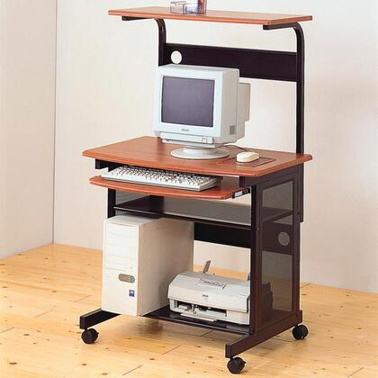 7121 Casual Contemporary Computer Unit with Computer Storage and Casters by Coaster