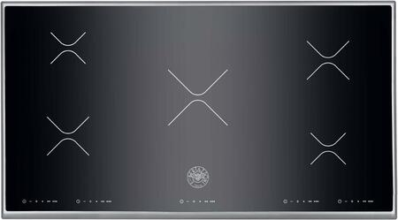 "Design P36 5 I X 36"" Wide Smoothtop Induction Cooktop 5 Elements Touch Controls Black Ceramic Top with Stainless Steel"