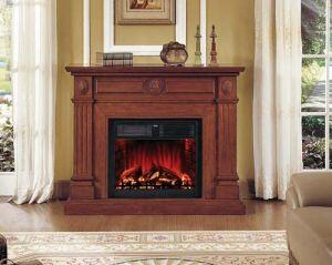 WF6216-FP Royal Teak Hampton Fireplace with 28  Insert