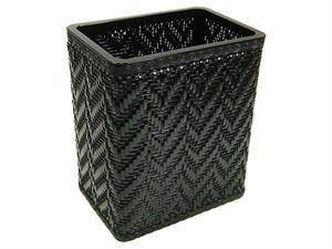 S423BK Elegante Collection Decorator Color Wicker Wastebasket in