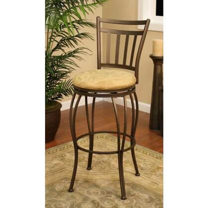 Folio Series 130831TZ-M42 30 Traditional Bar Stool With Full Bearing Swivel and Floor Glides in Topaz Finish with Camel Microfiber