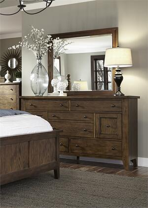 Hearthstone Collection 382-br-dm 2-piece Bedroom Set With Dresser And Mirror In Rustic Oak