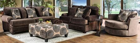 Bonaventura SM5142BR-SFLVCHOT 4-Piece Living Room Sets with Sofa  Loveseat  Chair and Ottoman in