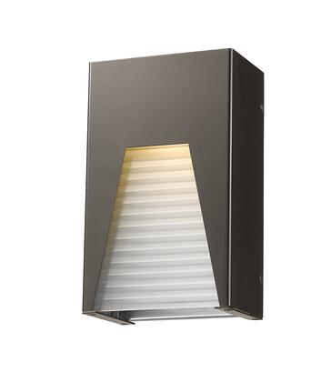 Millenial 561S-DBZ-SL-FRB-LED 6 1 Light Outdoor Wall Light Contemporary  Metropolitan  Modernhave Aluminum Frame with Bronze Silver finish in Frosted