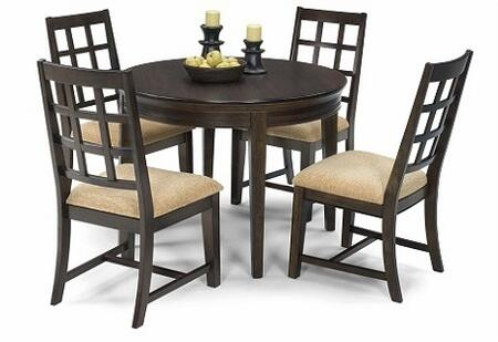 Casual Traditions Collection P107-ROUNDT4SC 5-Piece Dining Room Sets with Round Dining Table and 4 Side Chairs in