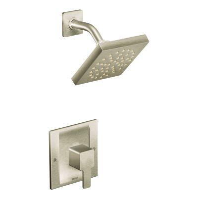 Moen TS2712BN 90 Degree PosiTemp Shower Trim Kit without Valve, Brushed Nickel