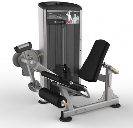 E-4981 Platinum Series 9505 Leg Extension Machine with 200 lbs. Incremental Weight Stack  Military Grade Cables and High-Tech Oval Tubing in Black and