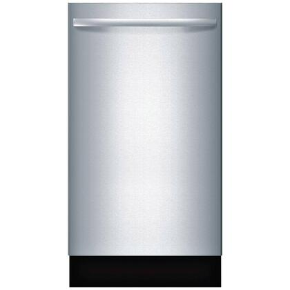 """Bosch 800 Series 18"""" Hidden Control Tall Tub Built-In Dishwasher with Stainless-Steel Tub Stainless Steel SPX68U55UC"""