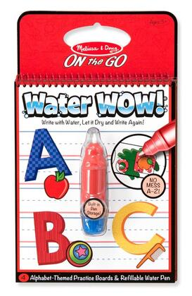 5389 Melissa & Doug Water WOW ON the GO Travel Activity Set with Paint-with-water Coloring Book  Reusable Pages and Refillable Water Pen: