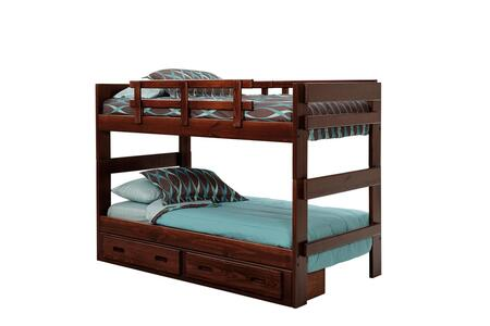 3626023-S Twin Over Twin Stacking Bunk Bed with Underbed Storage