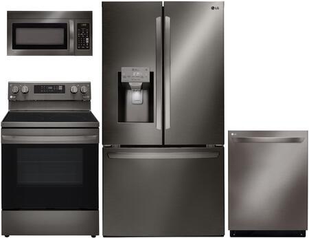 4 Piece Kitchen Appliance Package with LFXS26973D 36
