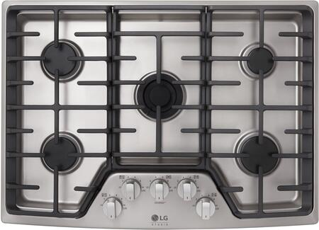 LG Studio LSCG307ST Stainless Steel 30 Gas Cooktop