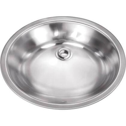 SCSLB18 Undermount Stainless Steel 17x14x5-3/4 0-Hole Single Bowl Kitchen