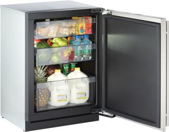 "3024RFS00 24"" Modular 3000 Series Star K Compact All Refrigerator with 4.8 cu. ft. Capacity  Digitally Controlled Single Zone  Convection Cooling System  Right"