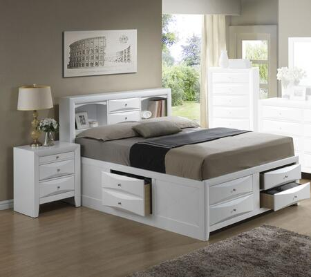 G1570G-FSB3BEDROOMSET 2-Piece Bedroom Set with Full Size Storage Bed + Nightstand  in